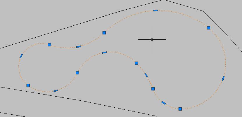 Рис. 12. Структура полилинии до выполнения команды PL-NoArc