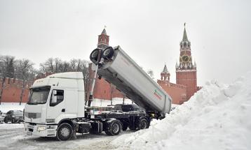 В Москве рекордный снегопад